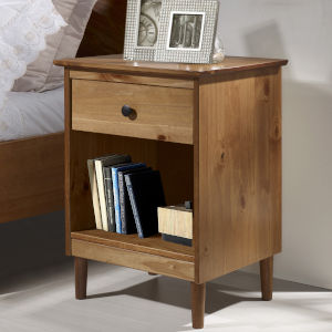 Caramel One Drawer Nightstand