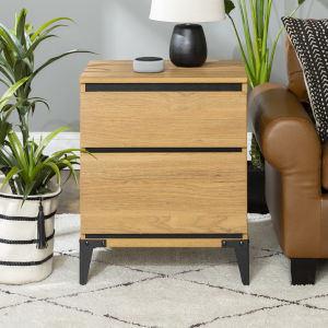 Elroy English Oak and Black Side Table