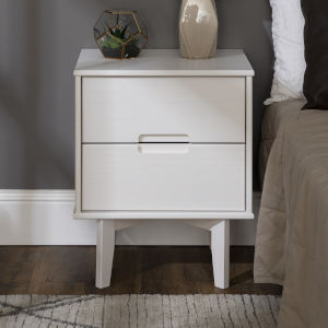 Sloane White Nightstand with Two Drawer