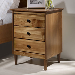 Caramel Three Drawer Nightstand
