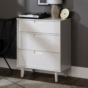 Sloane White Groove Handle Wood Dresser