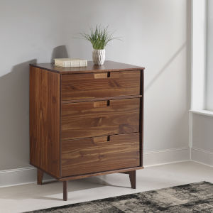 Walnut Three Drawer Dresser