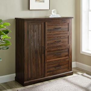 Jolene Dark Walnut Four-Drawer Dresser