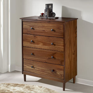 Walnut Four Drawer Dresser