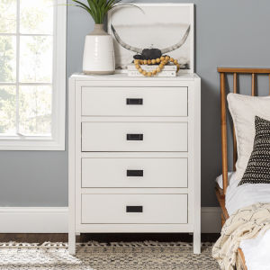 Lydia White Chest with Four Drawer