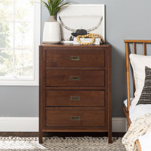 Lydia Walnut Chest with Four Drawer