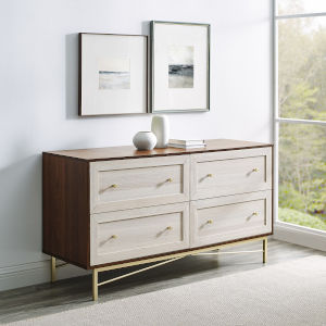 Gwen Dark Walnut White Poplar Four-Drawer Dresser