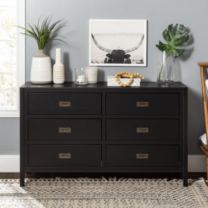 Lydia Black Dresser with Six Drawer