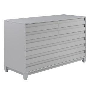 Priya Grey Six Drawer Dresser