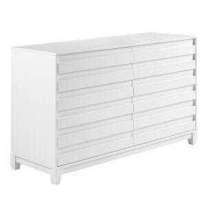 Priya White Six Drawer Dresser