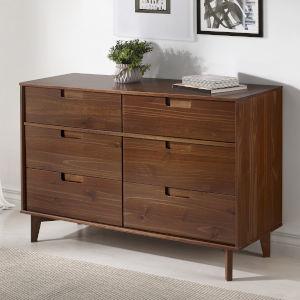 Walnut Six Drawer Dresser