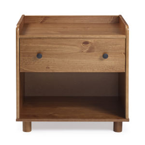 Morgan Caramel Nightstand with One Drawer