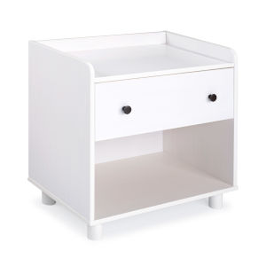 Morgan White Nightstand with One Drawer