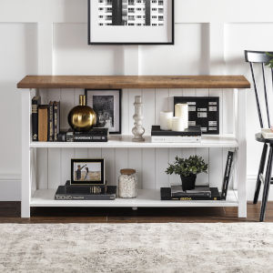 Lucas White and Barnwood Storage Console