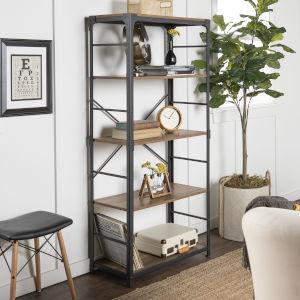 Rustic Oak 4 Shelf Bookcase
