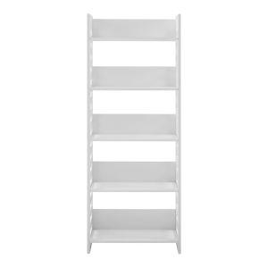 Howard Solid White Five Shelf Bookcase