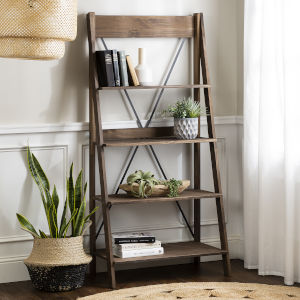 Brown 68-Inch Bookshelf