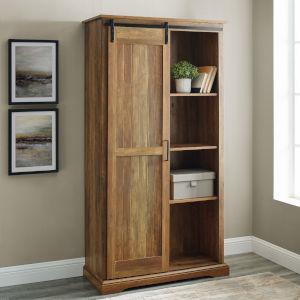 Barn Door Reclaimed Barnwood Storage Cabinet