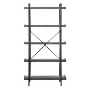 Gray Wash 68-Inch Bookcase
