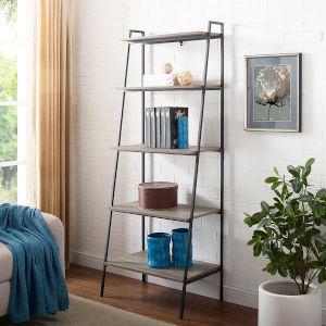 Grey Ladder Bookcase