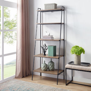 Mocha Ladder Bookcase