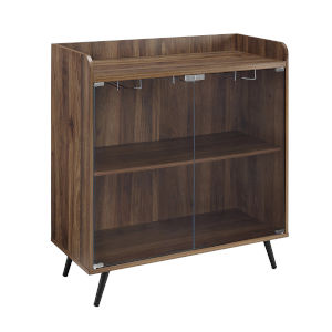 Dark Walnut Bar Cabinet