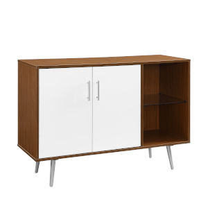 Acorn and White TV Stand Buffet