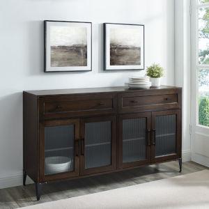 Nadine Dark Brown Oak Two Drawer Sideboard