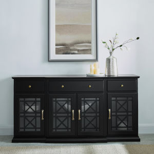 Landon Black Tiered Fretwork Sideboard