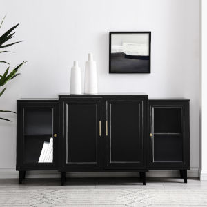 Laurel Black Sideboard with Four Door