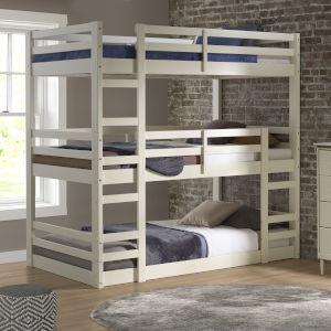 White Triple Bunk Bed