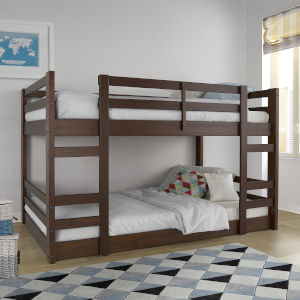 Walnut Twin Bunk Bed
