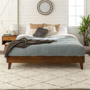 Walnut King Platform Bed