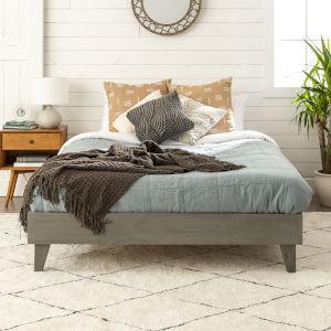 Gray Queen Platform Bed