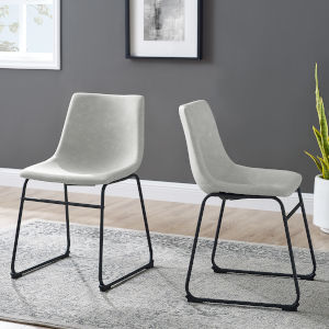 Gray and Black Dining Chair, Set of 2