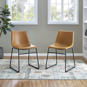 Whiskey Brown Dining Chair, set of 2