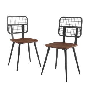 Dark Walnut 33-Inch Dining Chair, Set of 2