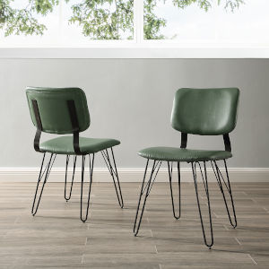 Green Dining Chair, Set of 2