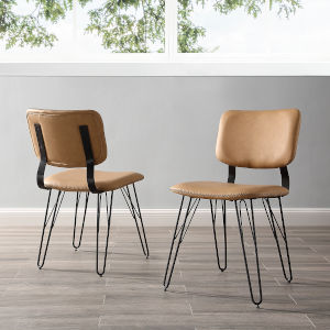 Tan Dining Chair, Set of 2