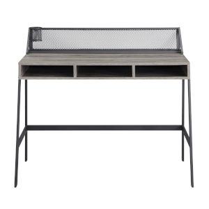 Slate Gray and Black 42-Inch Writing Desk