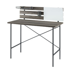 Gray Wash 42-Inch Adjustable Storage Writing Desk