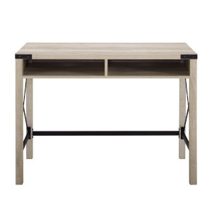 White Oak 42-Inch Metal and Wood Desk