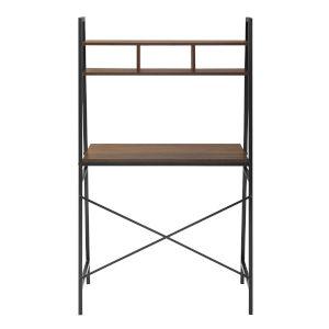 Mini Arlo Dark Walnut and Black Ladder Desk with Storage