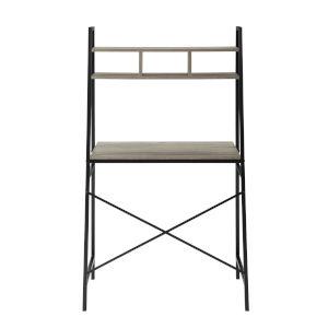 Mini Arlo Gray and Black Ladder Desk with Storage