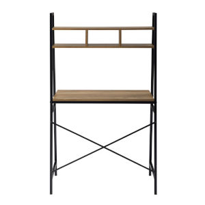 Mini Arlo Reclaimed Barnwood and Black Ladder Desk with Storage