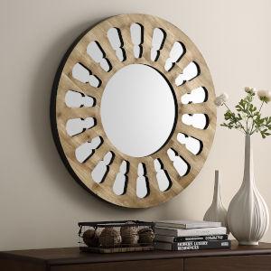 Natural Wash Round Wall Mirror