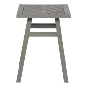 Gray Wash  18-Inch Outdoor Chevron Side Table