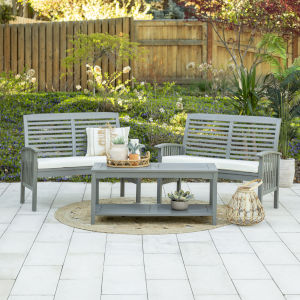 Gray Wash 24-Inch Three-Piece Classic Outdoor Chat Set