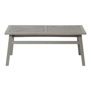 Gray Wash 20-Inch Outdoor Chevron Coffee Table