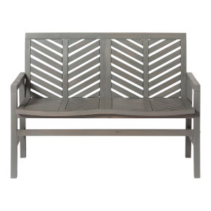 Gray Wash 25-Inch Outdoor Chevron Love Seat